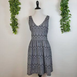 Lucky Brand Knit Abstract Print Fit & Flare Dress